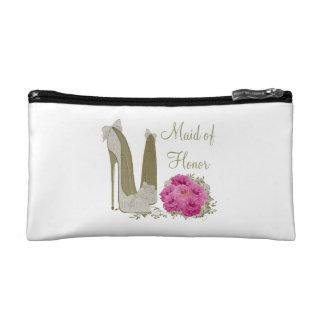 Criada del boda del regalo cosmético del bolso del