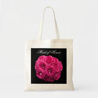 Criada del bolso del honor -- Rosas rosados Bolsa De Mano