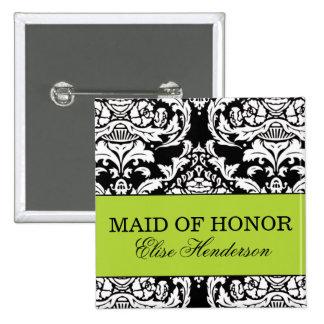 Criada del botón del honor pin cuadrado