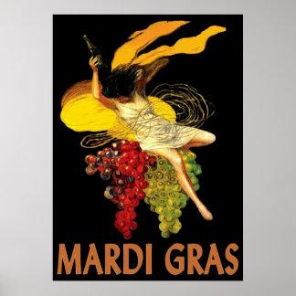 Criada del carnaval con las uvas póster