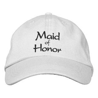 Criada del casquillo bordado del honor gorras de béisbol bordadas