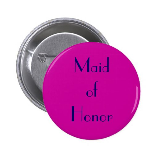 Criada del fucsia del honor y del botón de la mari pin