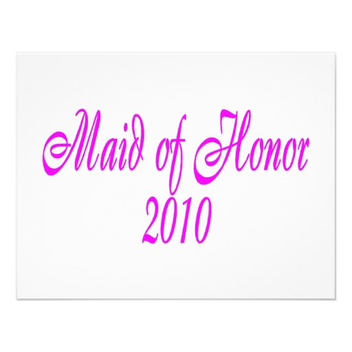 Criada del honor 2010 comunicados personales