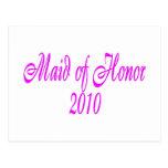 Criada del honor 2010 tarjetas postales