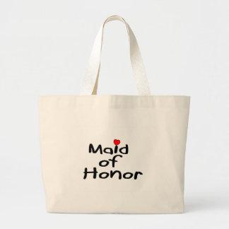 Criada del honor bolsa tela grande