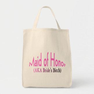 Criada del honor bolsa tela para la compra