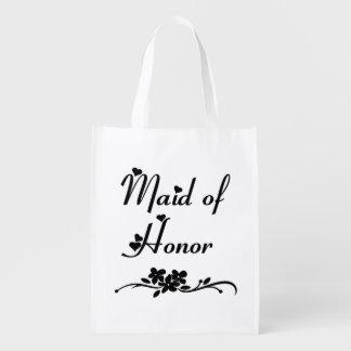 Criada del honor clásica bolsa de la compra