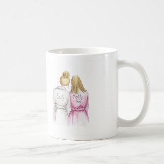 ¿Criada del honor? Criada recta del Bl de la novia Taza De Café