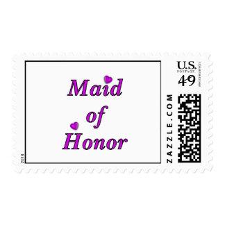 Criada del honor del amor simplemente sellos