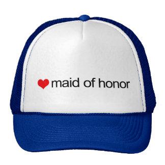 Criada del honor gorros bordados