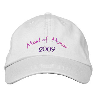 Criada del honor gorra de beisbol