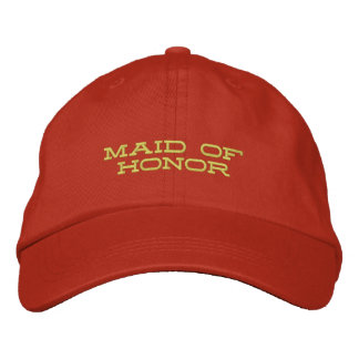 Criada del honor gorra de béisbol bordada