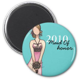 Criada del honor imán redondo 5 cm