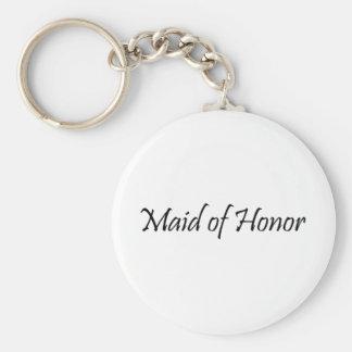 Criada del honor llavero personalizado