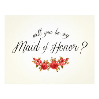 Criada del honor membretes personalizados