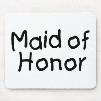 Criada del honor (negro) tapetes de raton