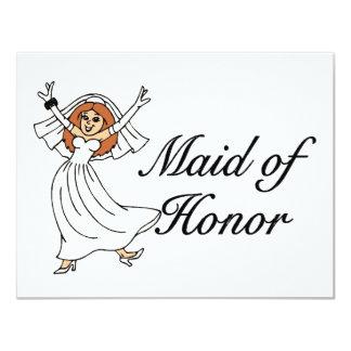 """Criada del honor (novia) invitación 4.25"""" x 5.5"""""""