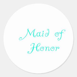 Criada del honor etiqueta
