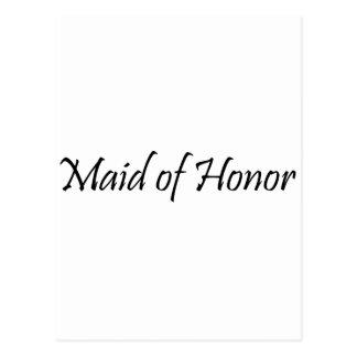 Criada del honor postal