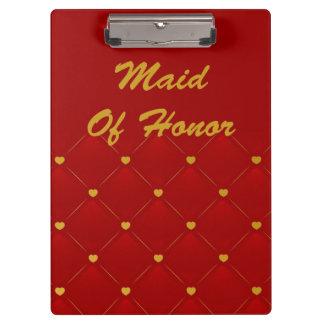 Criada del honor rojo oro
