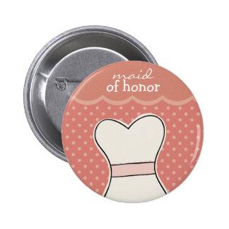 Criada del honor -- ROSA de //del vestido de boda Pin
