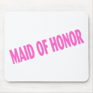 Criada del honor rosa inclinado tapete de ratón