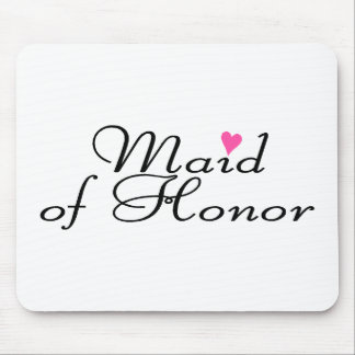 Criada del honor tapetes de ratón