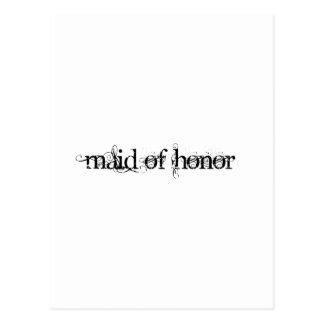 Criada del honor tarjeta postal