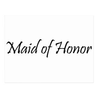 Criada del honor tarjetas postales