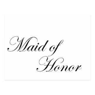 Criada del honor postales