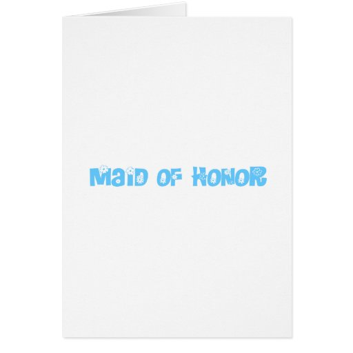 Criada del honor tarjetas