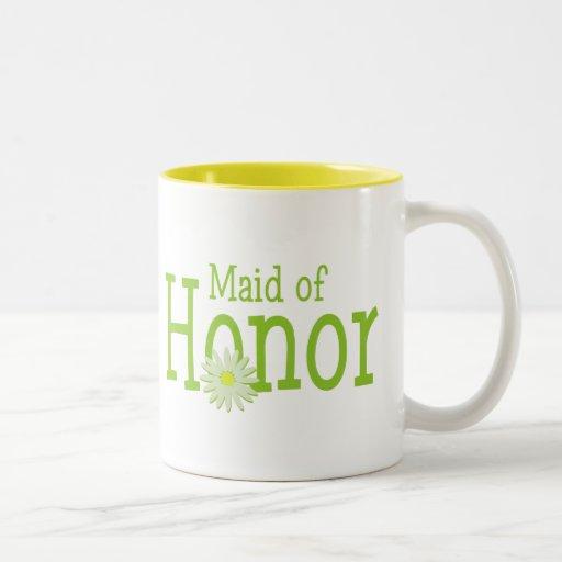 Criada del honor taza dos tonos
