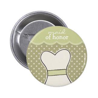 Criada del honor -- VERDE de //del vestido de boda Pin