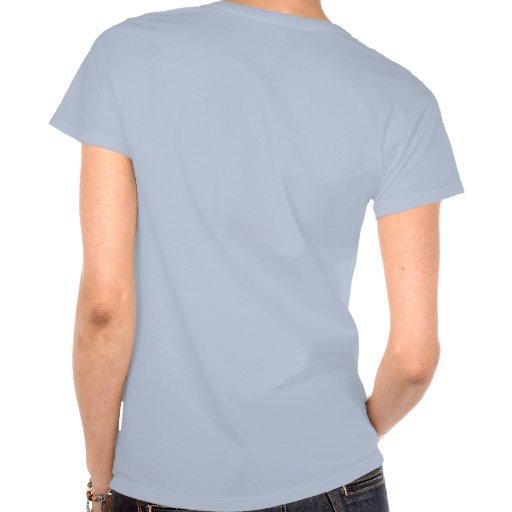 Criada del honor, voluta azul, camisa trasera del