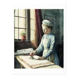 Criada del lavadero, c.1880 tarjeta postal