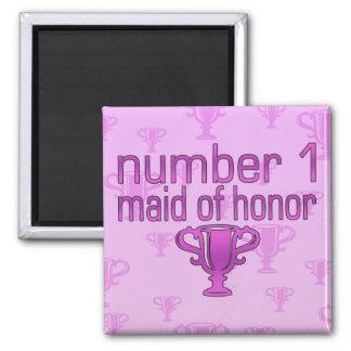 Criada del número 1 del honor iman de frigorífico