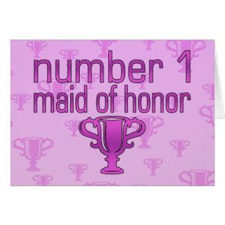 Criada del número 1 del honor felicitacion