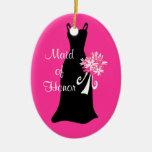 Criada del ornamento del vestido del negro del ornamentos de reyes magos