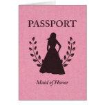 Criada del pasaporte del honor tarjeta pequeña