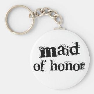 Criada del texto del negro del honor llaveros