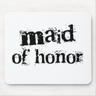 Criada del texto del negro del honor alfombrillas de ratón