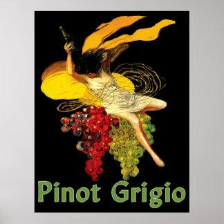 Criada del vino de Pinot Grigio Póster