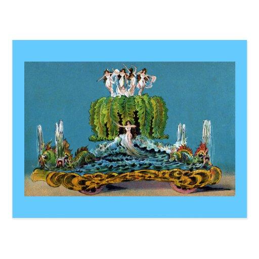 Criada del vintage del flotador del desfile de la postales
