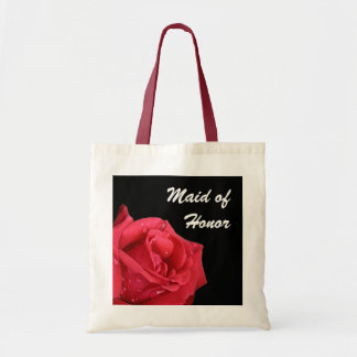 Criada elegante de rosa rojo del bolso del regalo  bolsa lienzo