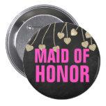 Criada elegante trémula del Pin del botón del hono