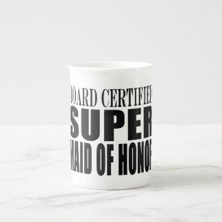 Criada estupenda de las gracias de los símbolos de taza de porcelana