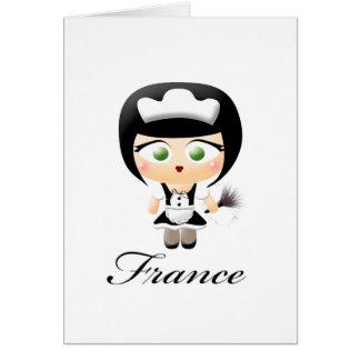 Criada francesa felicitación