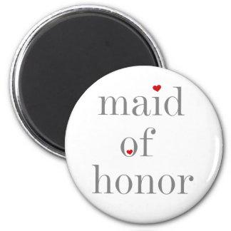 Criada gris del texto del honor iman para frigorífico
