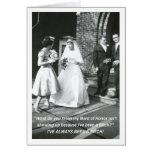 Criada malintencionada de la novia del honor tarjetas