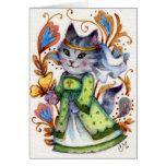 Criada mariana - tarjeta de felicitación linda del